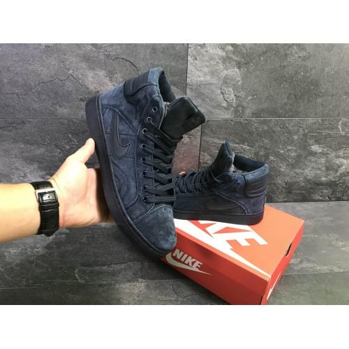 Кроссовки Nike Jordan dark blue (зима)