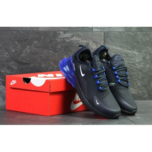 Кроссовки Nike Air Max 270 dark blue (winter)