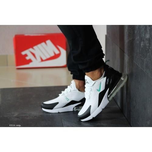 Мужские кроссовки Nike Air Max 270 белые с мятой