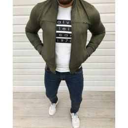Мужская куртка бомбер хаки