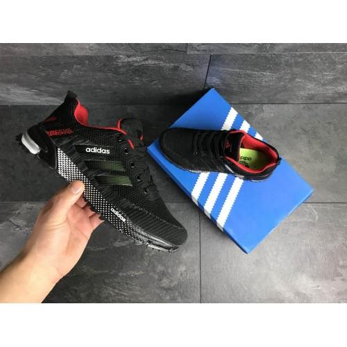 Кроссовки Adidas Marathon черные с красным купить