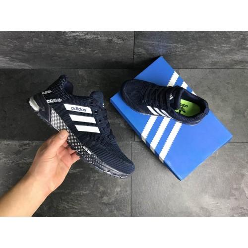 Кроссовки Adidas Marathon темно синие с белым