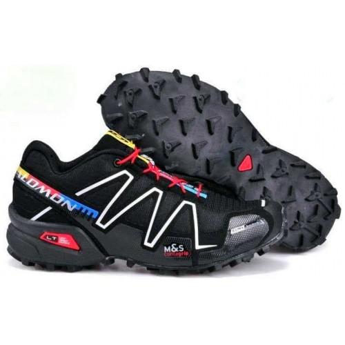 Salomon Speedcross 3 черные с белым красные