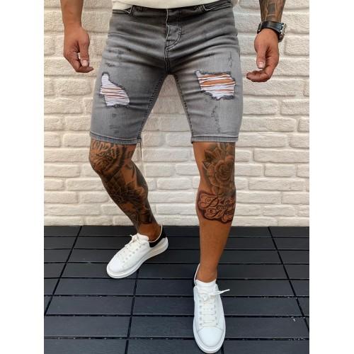 Джинсовые шорты серые