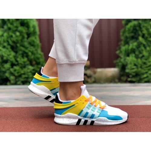 Кроссовки Adidas Equipment (EQT) белые с голубым Купить Цена Производителя