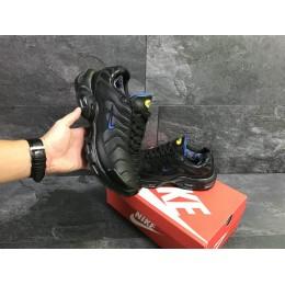 Кроссовки Nike Air Max Tn чорні із синім (зима)