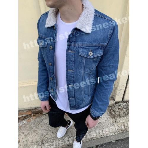 Мужская джинсовка синяя