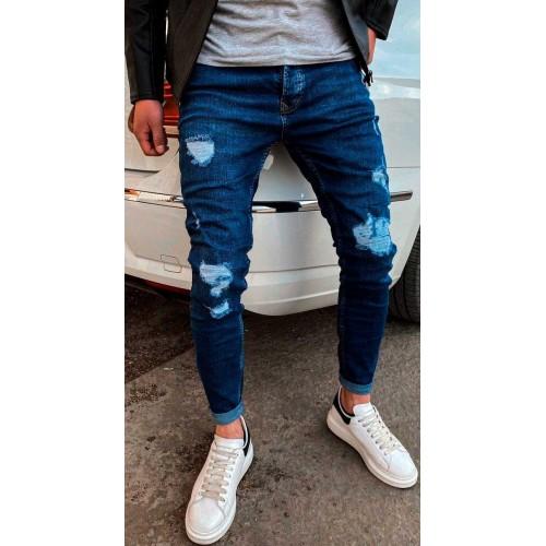 Джинсы мужские синие