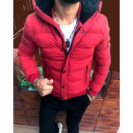 Мужская куртка зима красная