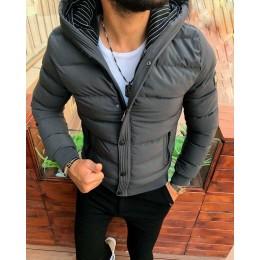 Мужская куртка зима серая
