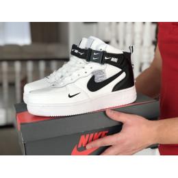 Nike Air Force белые с черным