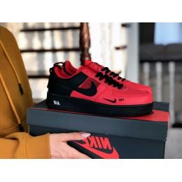 Nike Air Force красные с черным
