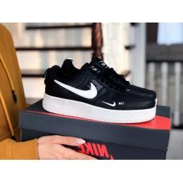 Nike Air Force черные с белым