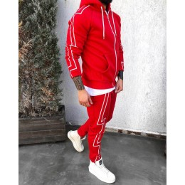 Спортивний костюм красный #КА2080