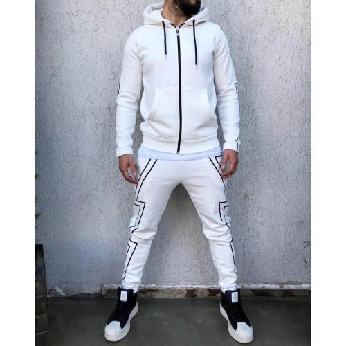 Спортивний костюм белый #КА2079