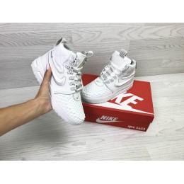 Кроссовки Nike Lunar Force 1 Duckboot белые (зима)