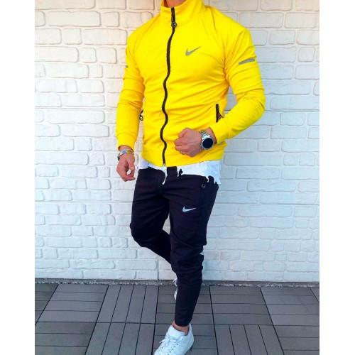 Чоловічий спортивний костюм Nike жовтий