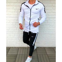 Cпортивный костюм найк бело - черный