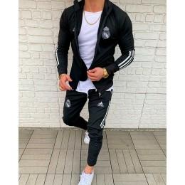 Мужской спортивный костюм Adidas черный Real Madrid