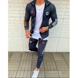 Мужской спортивный костюм Adidas черный FC manchester united