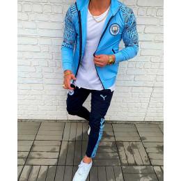 Мужской спортивный костюм Puma синий Manchester city 2021