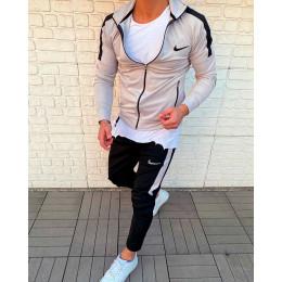 Мужской спортивный костюм NIKE серый