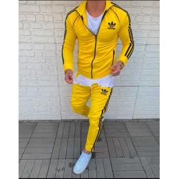 Спортивный костюм на весну мужской Адидас желтый