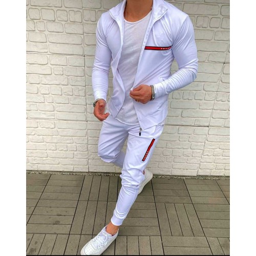"Спортивный костюм для мужчин белого цвета ""Prada"""
