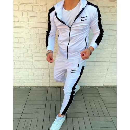 Nike swoosh спортивный костюм белый