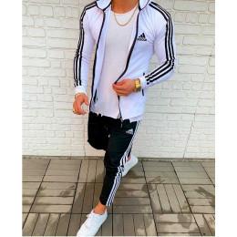 Cпортивный костюм адидас черно белый