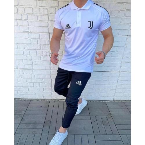 Летний спортивный костюм Adidas белый
