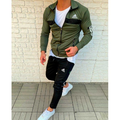 Спортивный костюм Adidas хаки