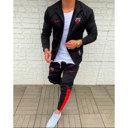 Мужской спортивный костюм Nike черный Chicago Bules