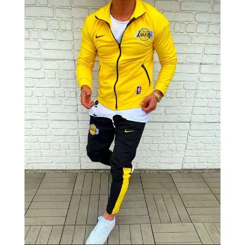 Мужской спортивный костюм Nike желтый Lakers