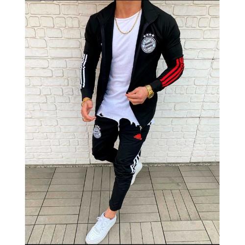 Мужской спортивный костюм Adidas черный Бавария