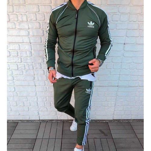 Мужской спортивный костюм Adidas зеленый