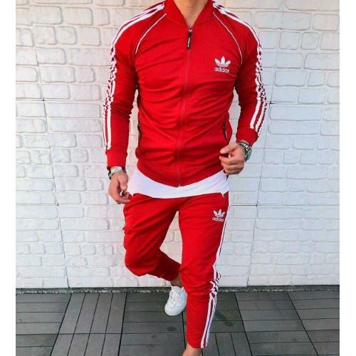 Мужской спортивный костюм Adidas красный