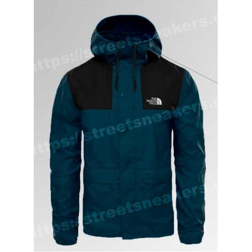 Мужская ветровка куртка The North Face 1985 Seasonal Mountain Jacket синяя с черным