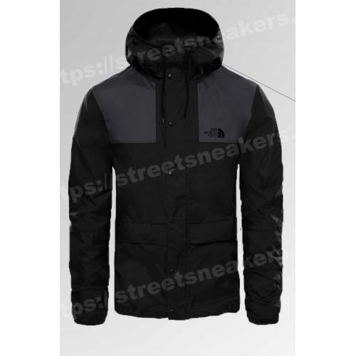 Мужская ветровка куртка The North Face 1985 Seasonal Mountain Jacket черная с серым