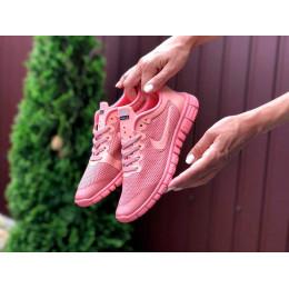 Nike Free Run 3.0 розовые