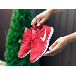 Красные Nike Free Run 3.0