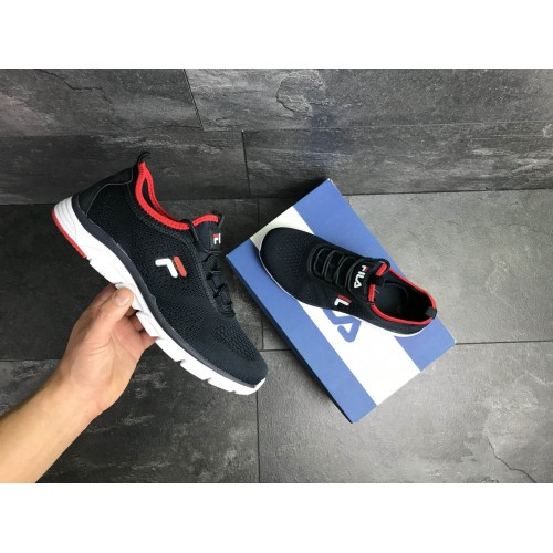 Кроссовки Fila темно сині з білим