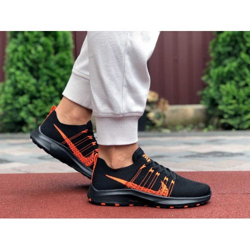 Купить кроссовки Nike Zoom черные с оранжевым в интернет магазине streetsneakers.com.ua