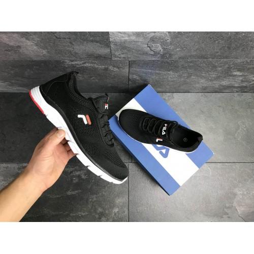 Кроссовки Fila темно чорно білі