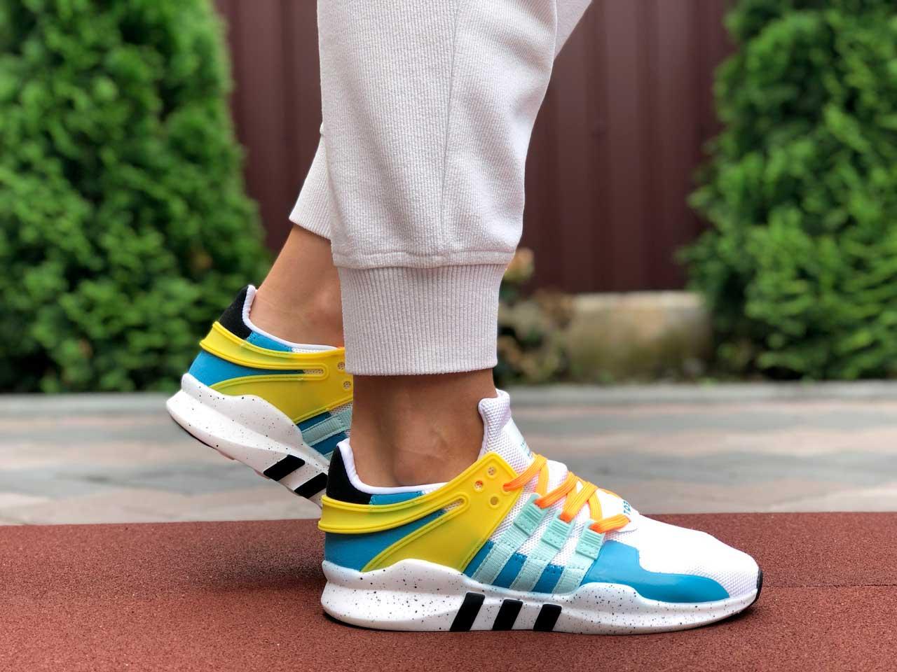 Adidas EQT Running белые с голубым