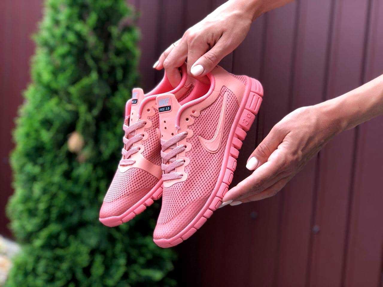 Кроссовки женские Nike Free Run 3 розовые