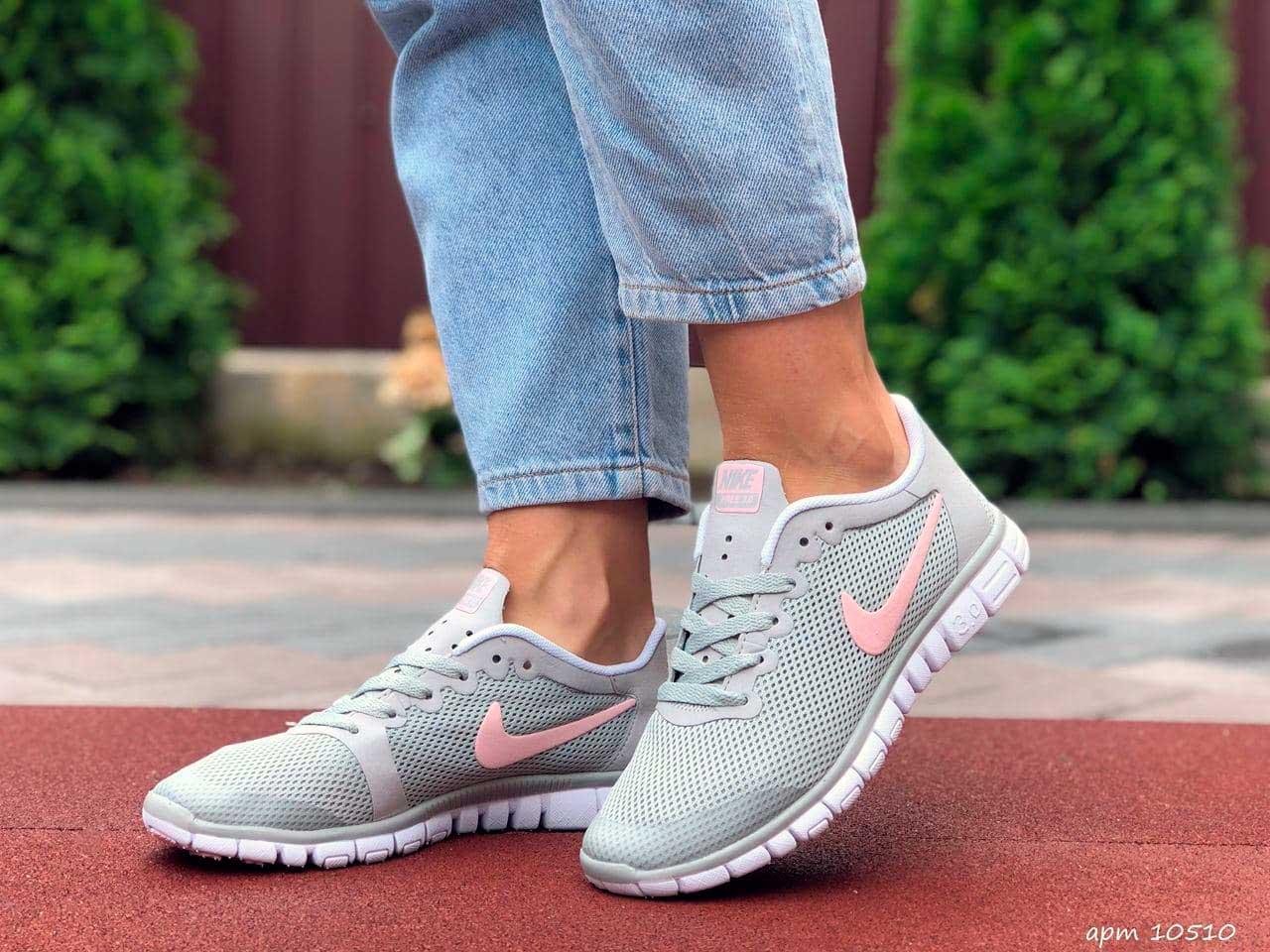Кроссовки женские Nike Free Run 3 серые