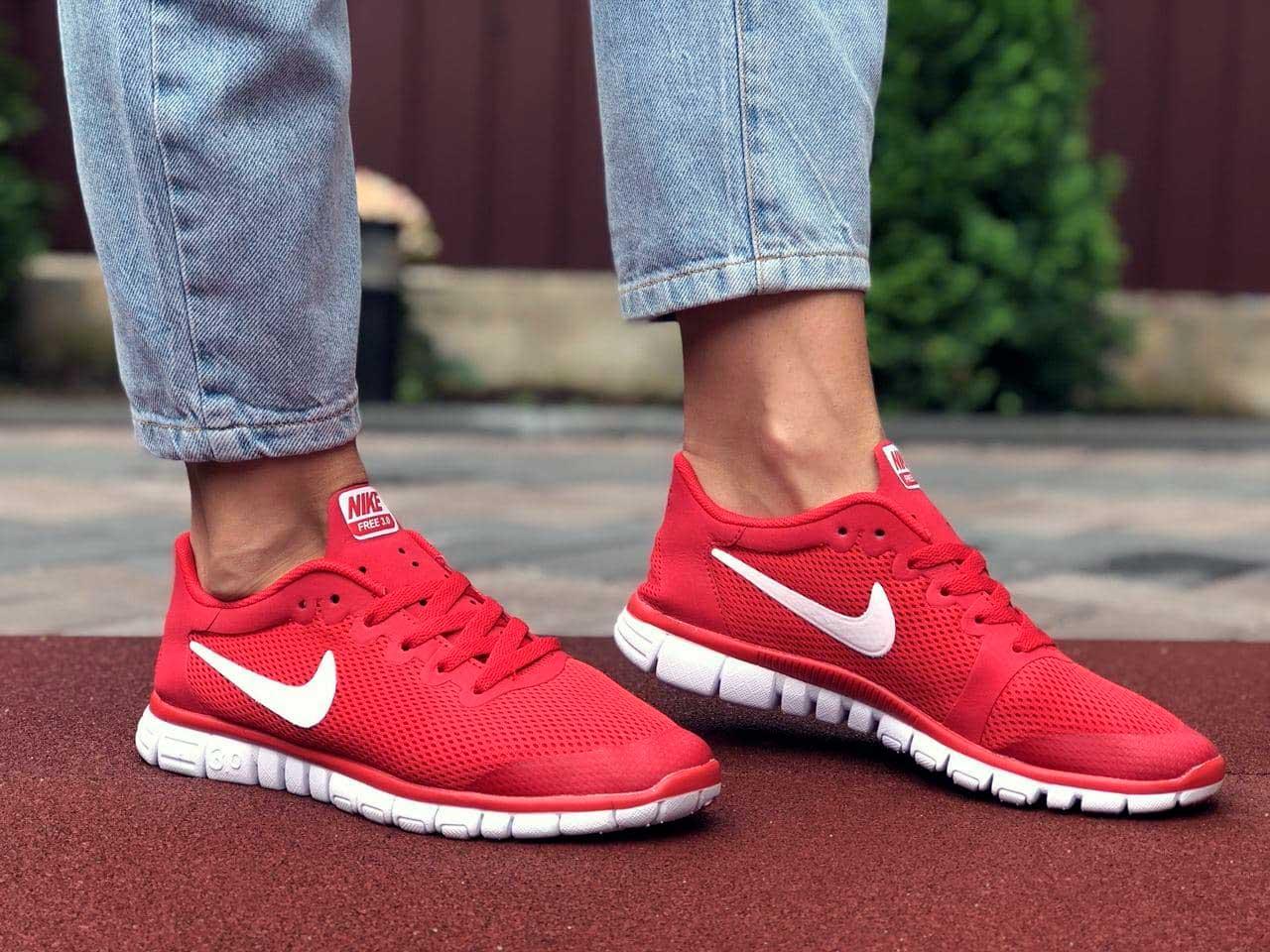 Красные кроссовки Nike Free Run 3 женские купить в украине