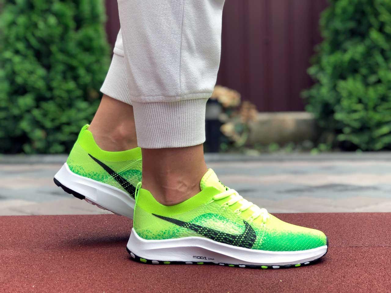 Кроссовки женские Nike zoom салатовые