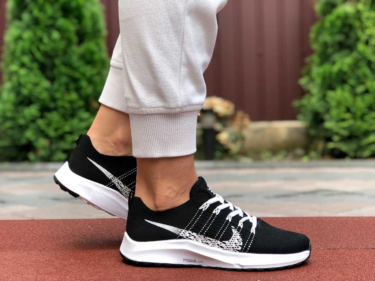 Кроссовки женские Nike zoom черные с белым